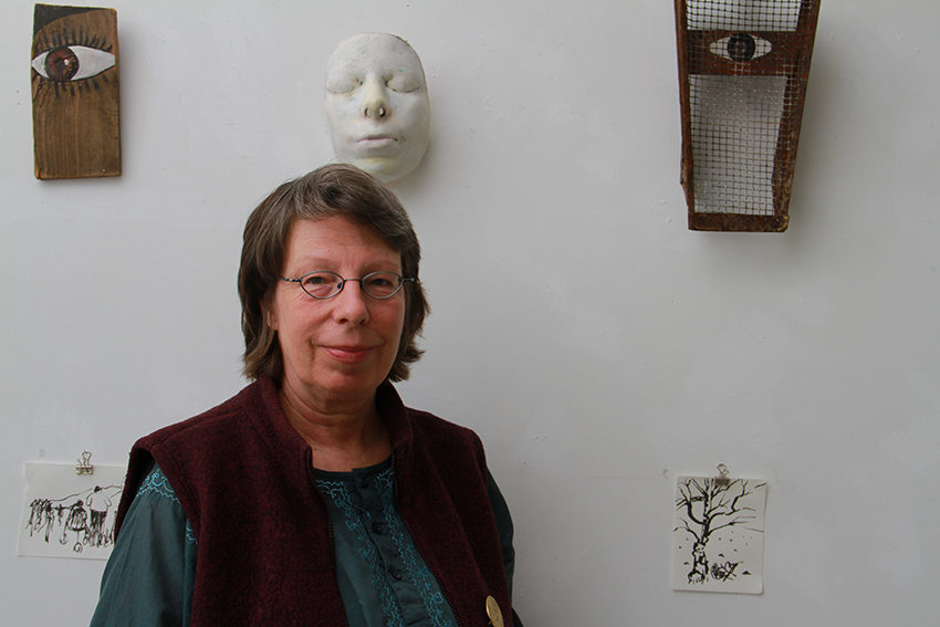 Barbara Held in Ihren Atelier