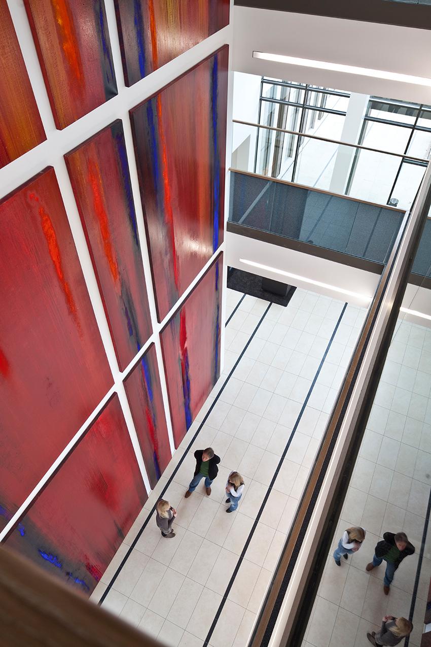 'Life Streams/Lebensstroeme', Foyer Volkswohlbund, Dortmund,  10 x 6 m, 2010/2011 (Archivbild)