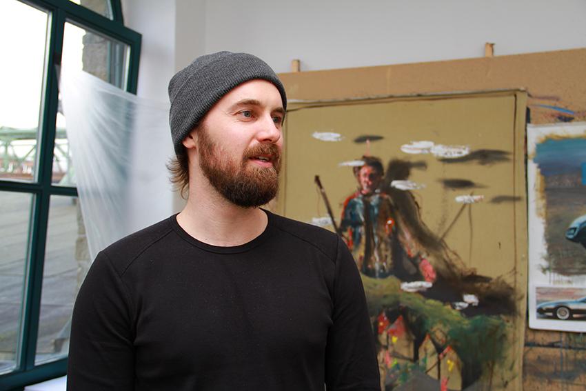 Tim Leimbach in seinem Atelier