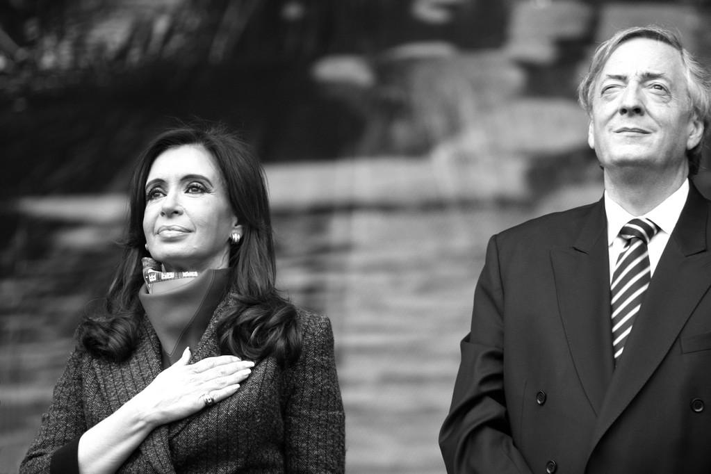 Cristina Fernández de Kirchner y Néstor Kirchner - Día de la lealtald-