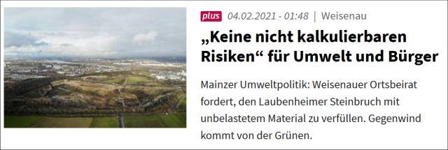 """""""Keine nicht kalkulierbaren Risiken"""" für Umwelt und Bürger"""