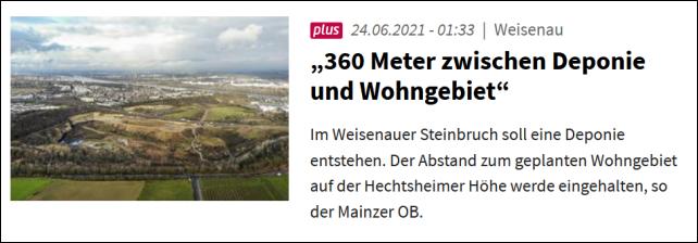 """""""360 Meter zwischen Deponie und Wohngebiet"""""""
