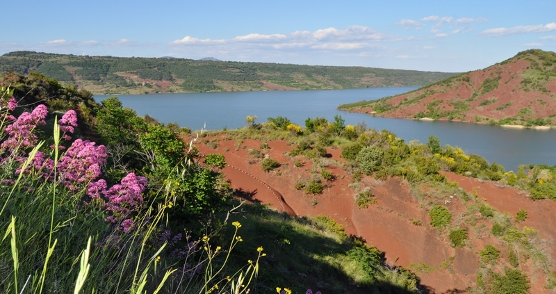 Lac du Salagou Grand site de France vtt SALAGOU 34