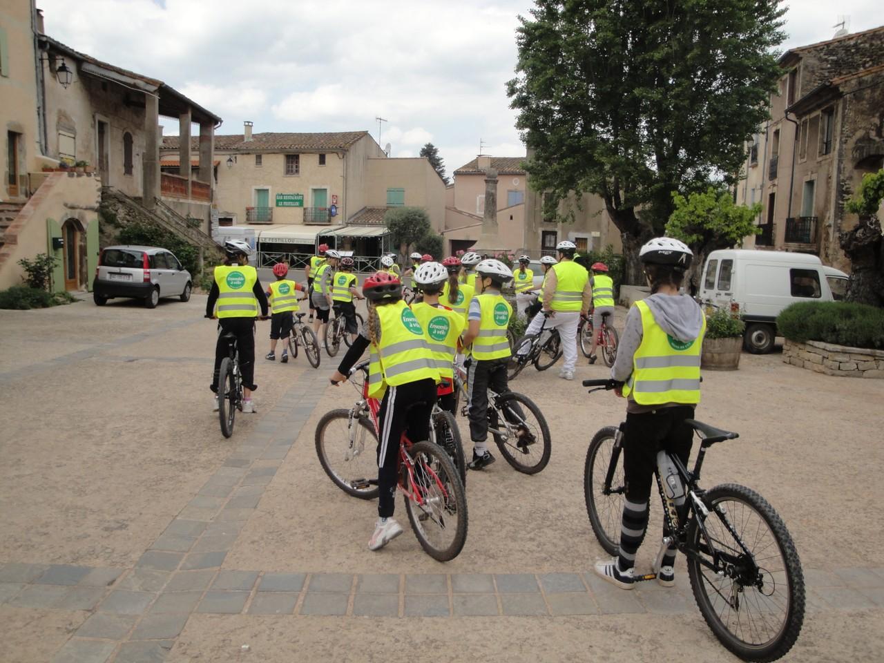 Sortie vélo scolaire: circuit cyclotourisme Coeur d'Hérault et Salagou -Ozone