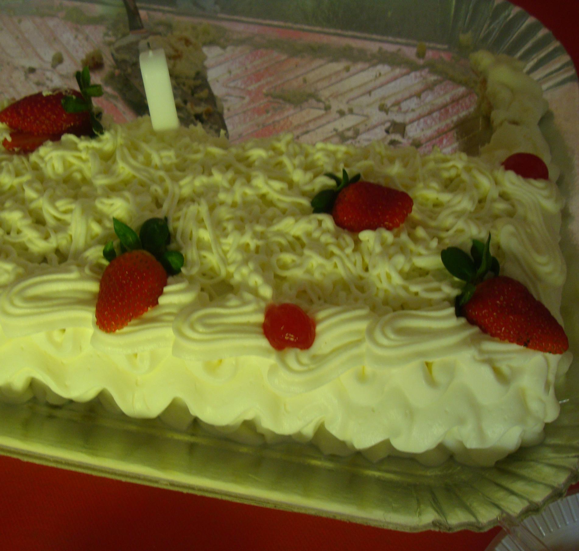 大きなショートケーキー家族の誕生日会より
