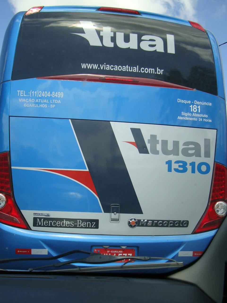 ブラジルで走るバスはなんとベンツ製です。