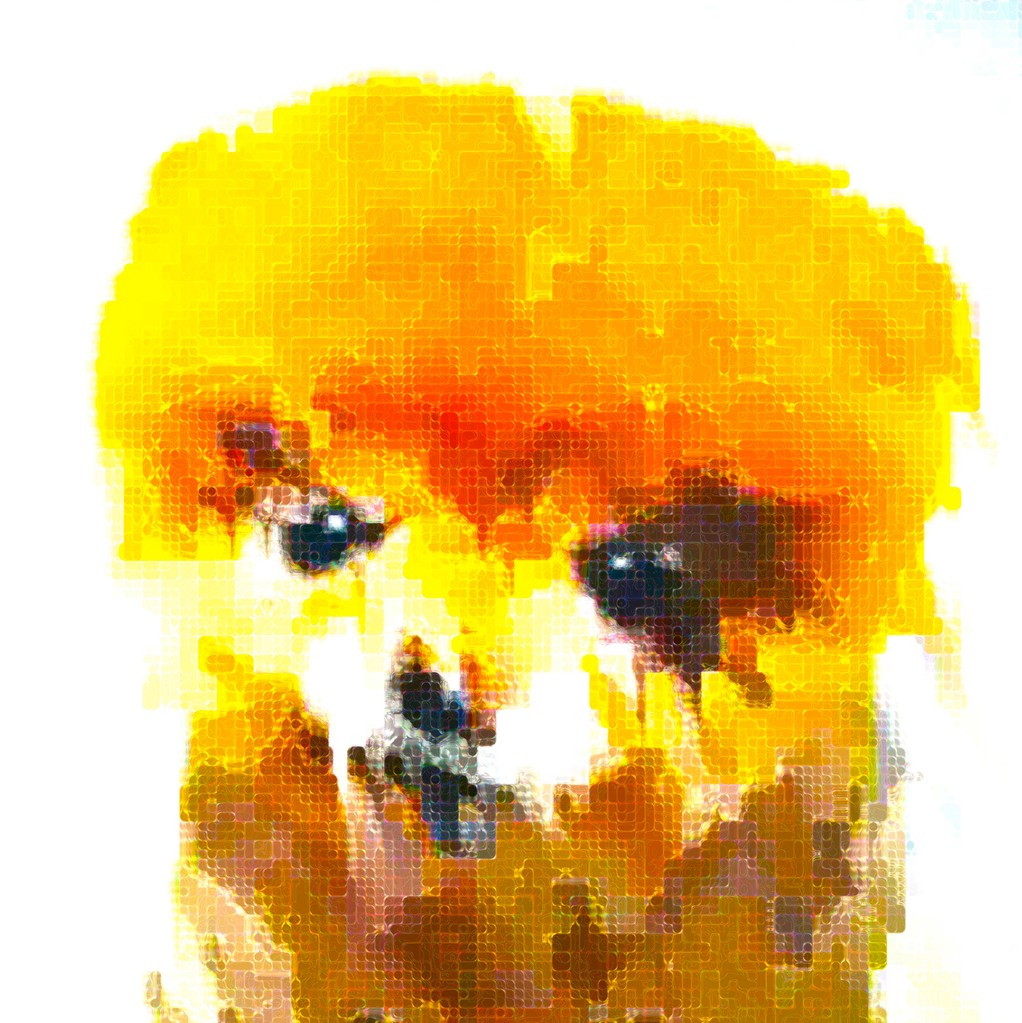 """Boo Dog 1,"" 2011 Digital print on canvas. Size: 80cm X 80cm"