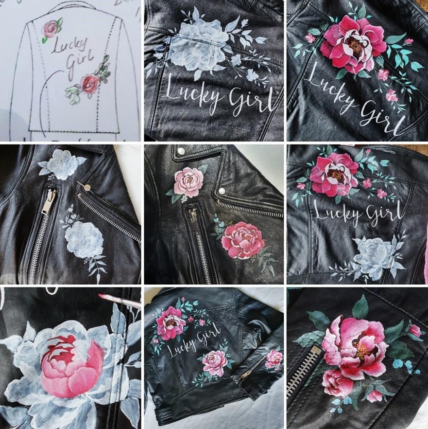 Blog #1. The making of van een beschilderd leren jasje