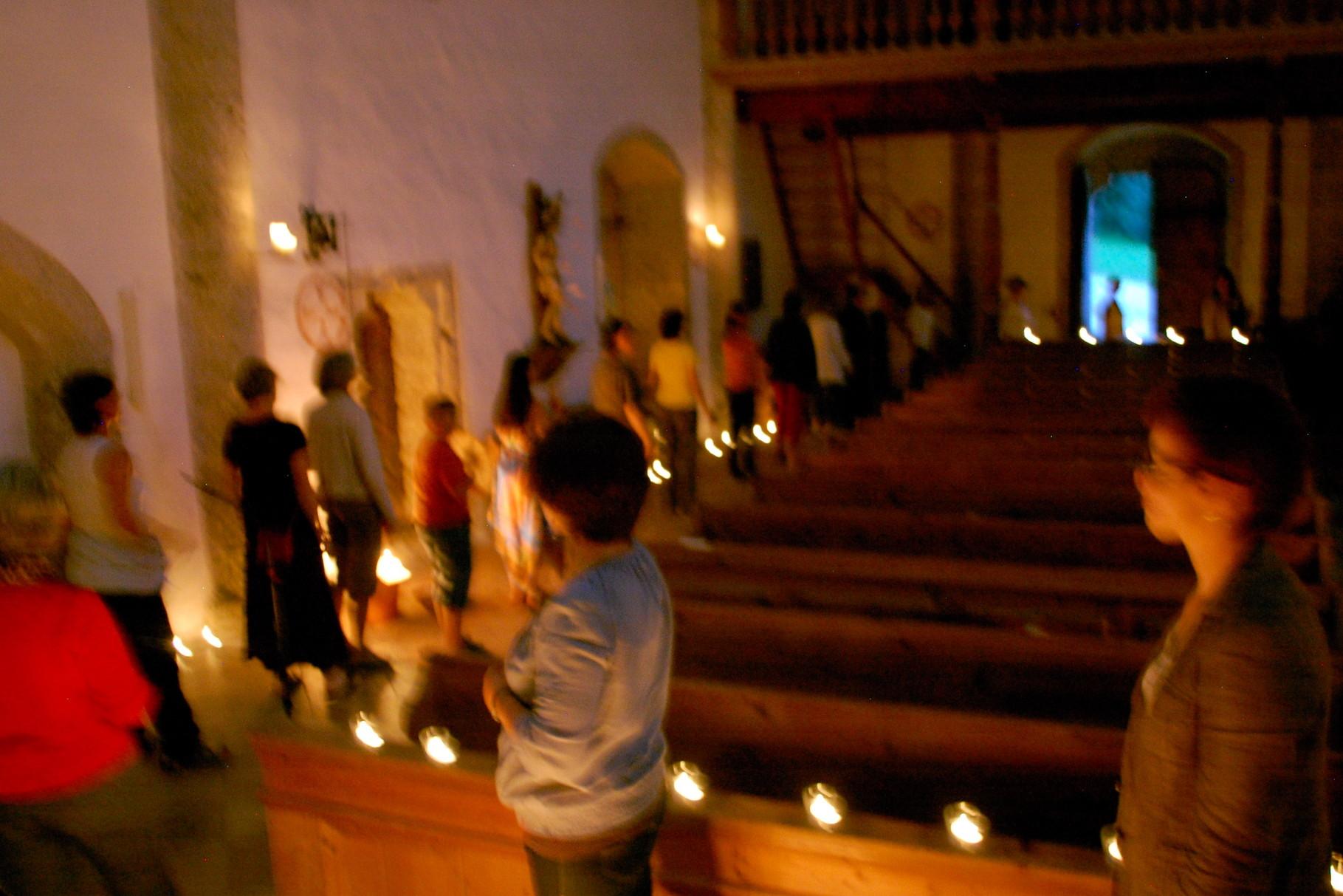 SOG 2012 St. Blasien :: LichtRitual zum Lied 'Komm bewohne mein Herz'