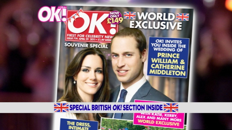 OK! USA Magazine: Royal Wedding edition promo for the US. (AFX)