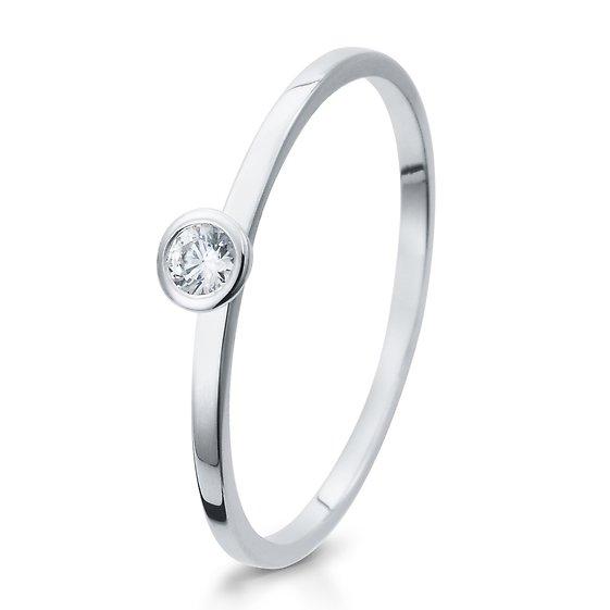 Verlobungsring 925/ooo Silber mit Zirkonia 0,10 Br41/5287