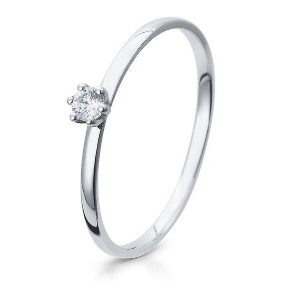 Verlobungsring 925/ooo Silber mit Zirkonia 0,10 Br41/5284
