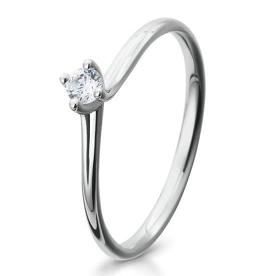 Verlobungsring 925/ooo Silber mit Zirkonia 0,10 Br41/5281