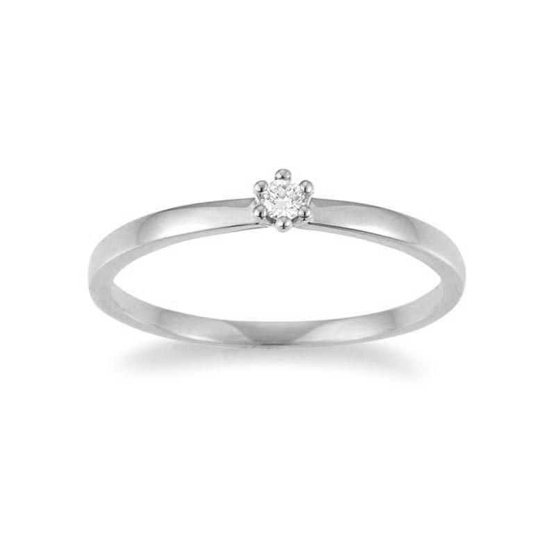 The New York Collection · Ring · Weißgold 585 · Brillant 0,05ct H/SI