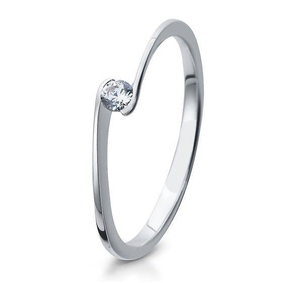 Verlobungsring 925/ooo Silber mit Zirkonia 0,10 Br41/5311