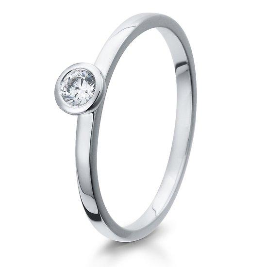 Verlobungsring 925/ooo Silber mit Zirkonia 0,10 Br41/5293