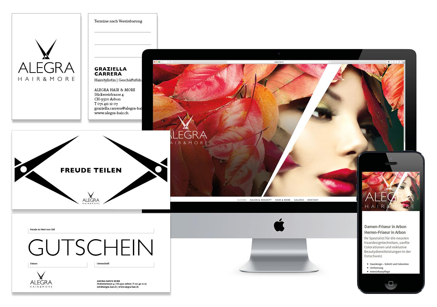 … sowie die Website im responsive Design und die gesamten Briefschaften.