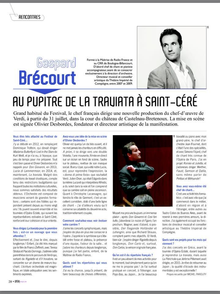 • Interview avec Michel Parouty, critique musical pour Opéra Magazine (n°119)