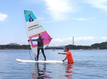 スクール画像1 ウインドサーフィン始めるなら神奈川県横浜市金沢区 海の公園スピードウォール