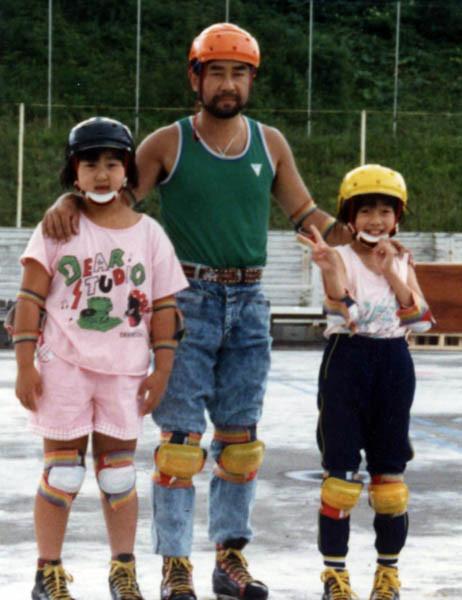 娘たちとローラースケート