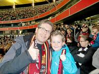 Bild im Stadion mit Sohn Timm