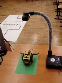 Фото 1. Расположение документ-камеры на столе