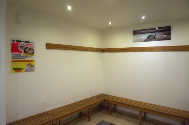 Die Umkleidekabinen der TOWASAN Karate Schule Muenchen