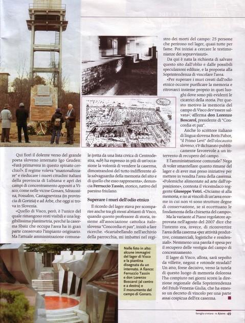 Articolo Famiglia Cristiana / 2010 (2)