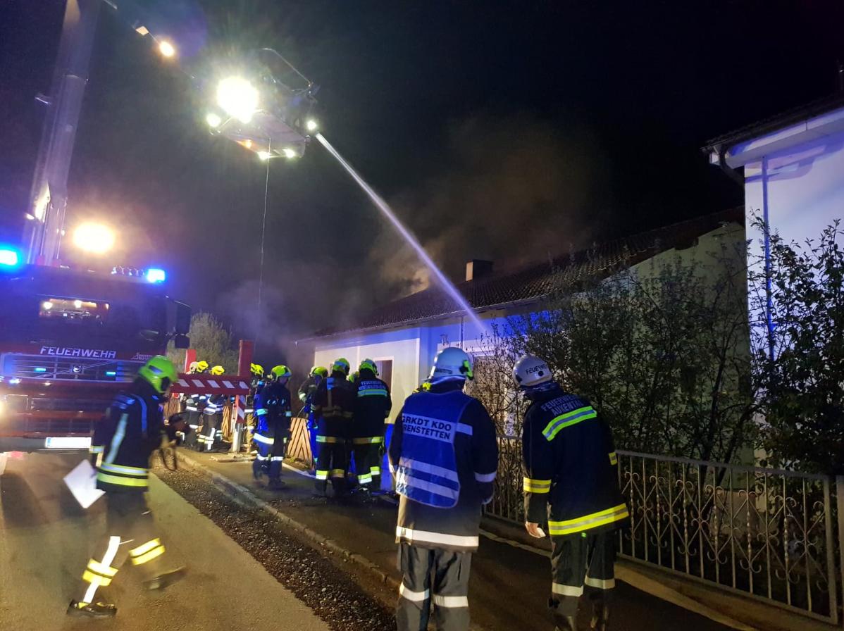 Innenangriff bei Wohnhausbrand in Aschbach