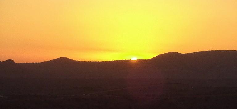 Sonnenuntergang vom Zimmer aus