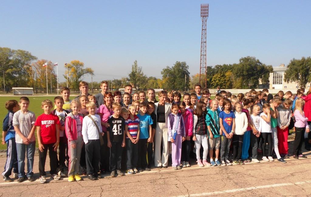 Сборная команда школы с Можаровой И.В.