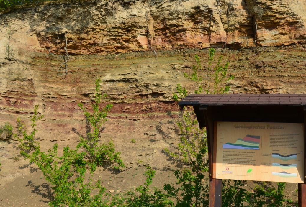 Geologischer Aufschluss bei Oberderdingen