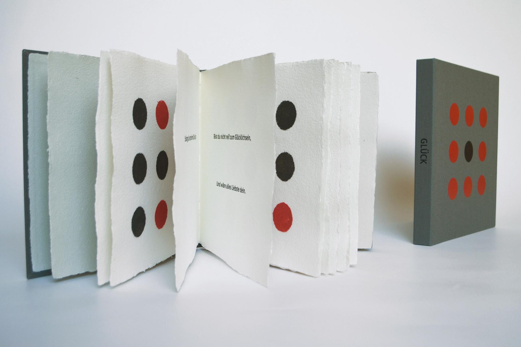 """""""Glück"""" (2008) - Ein Künstlerbuch von John Gerard mit einem Gedicht von Hermann Hesse"""