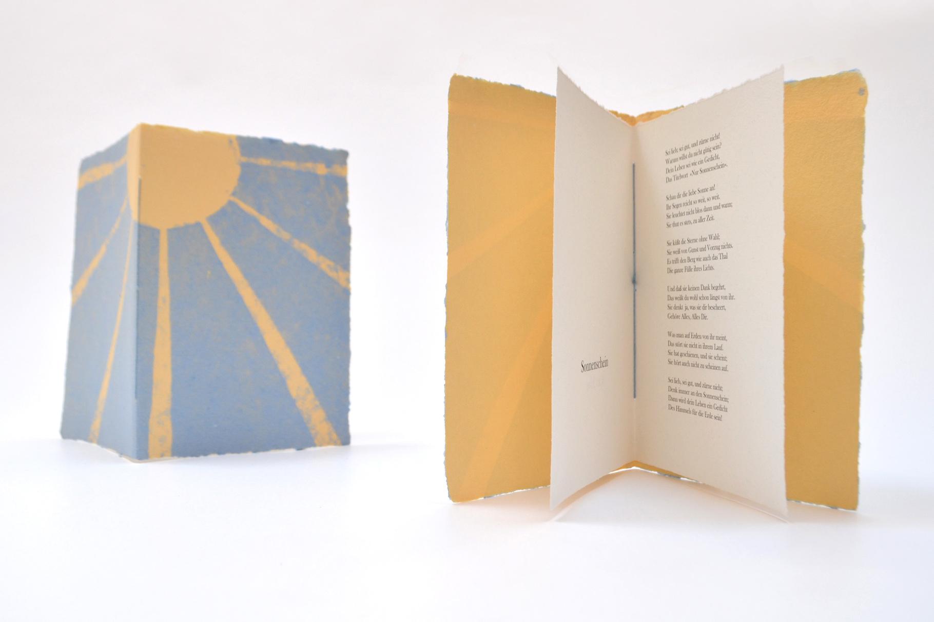 """""""Sonnenschein"""" (2016) - Ein Heft, gestaltet von John Gerard mit einem Gedicht von Karl May"""