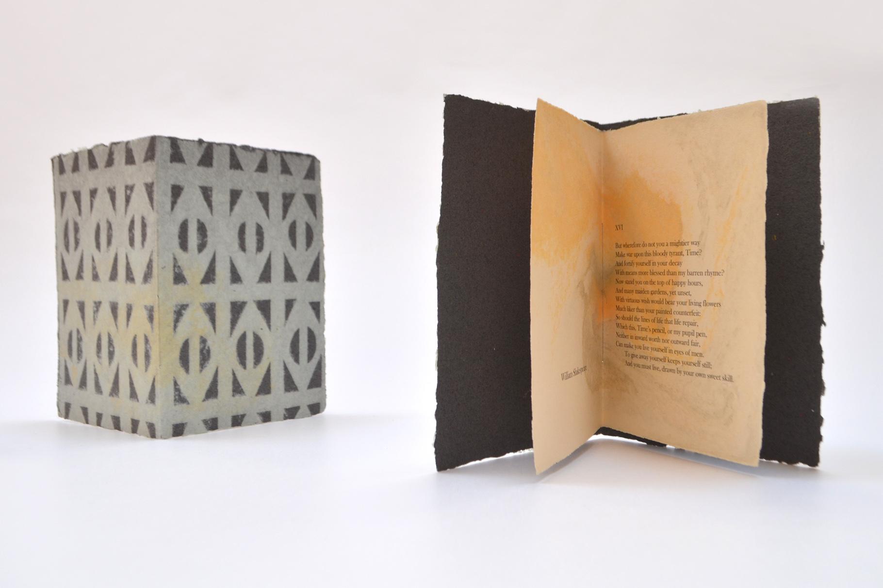 """""""A Sonnet (XVI)"""" (2016) - Ein Heft, gestaltet von John Gerard mit einem Sonett von W. Shakespeare"""