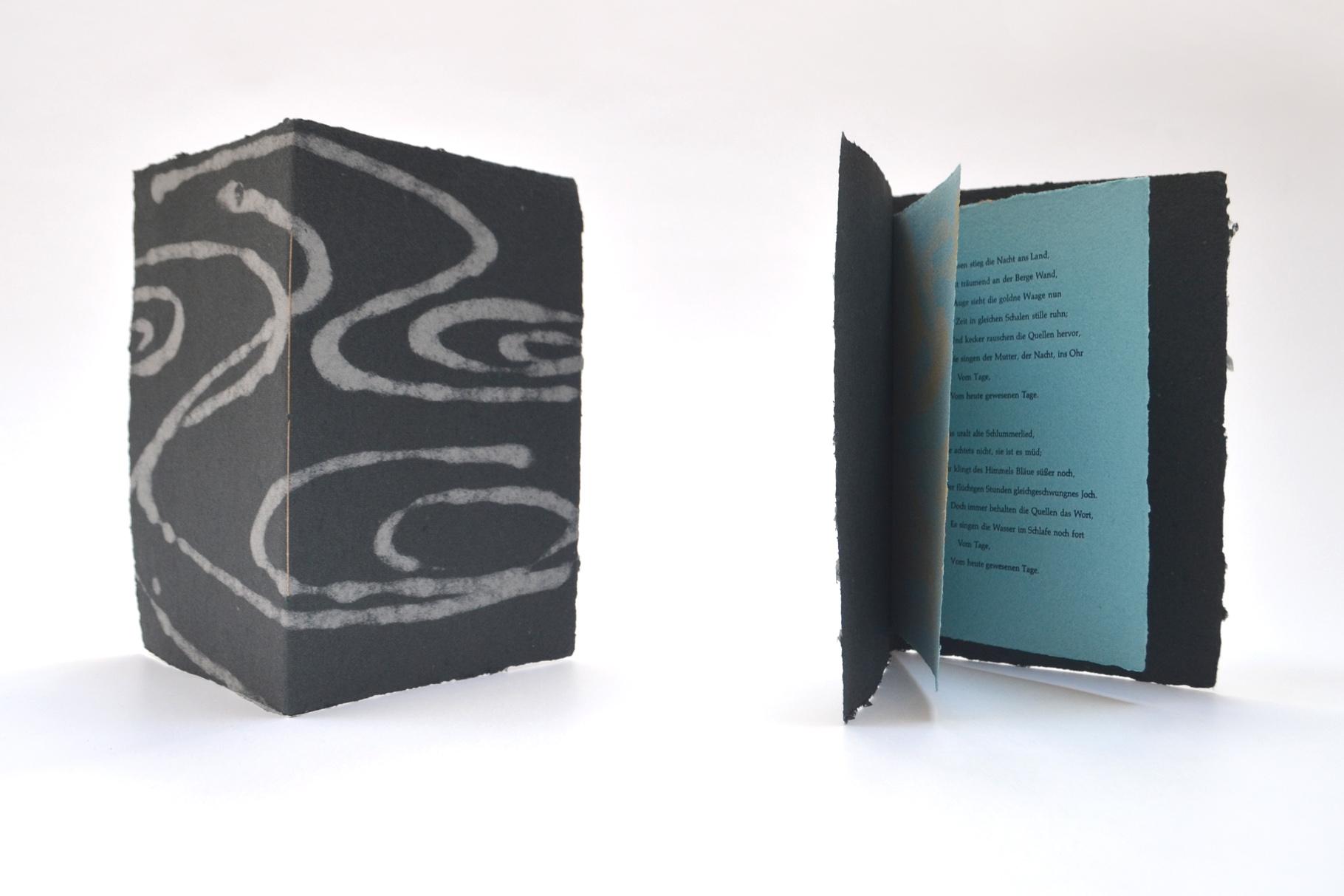 """""""Um Mitternacht"""" (2004) - Ein Heft, gestaltet von John Gerard mit einem Gedicht von Eduard Mörike"""