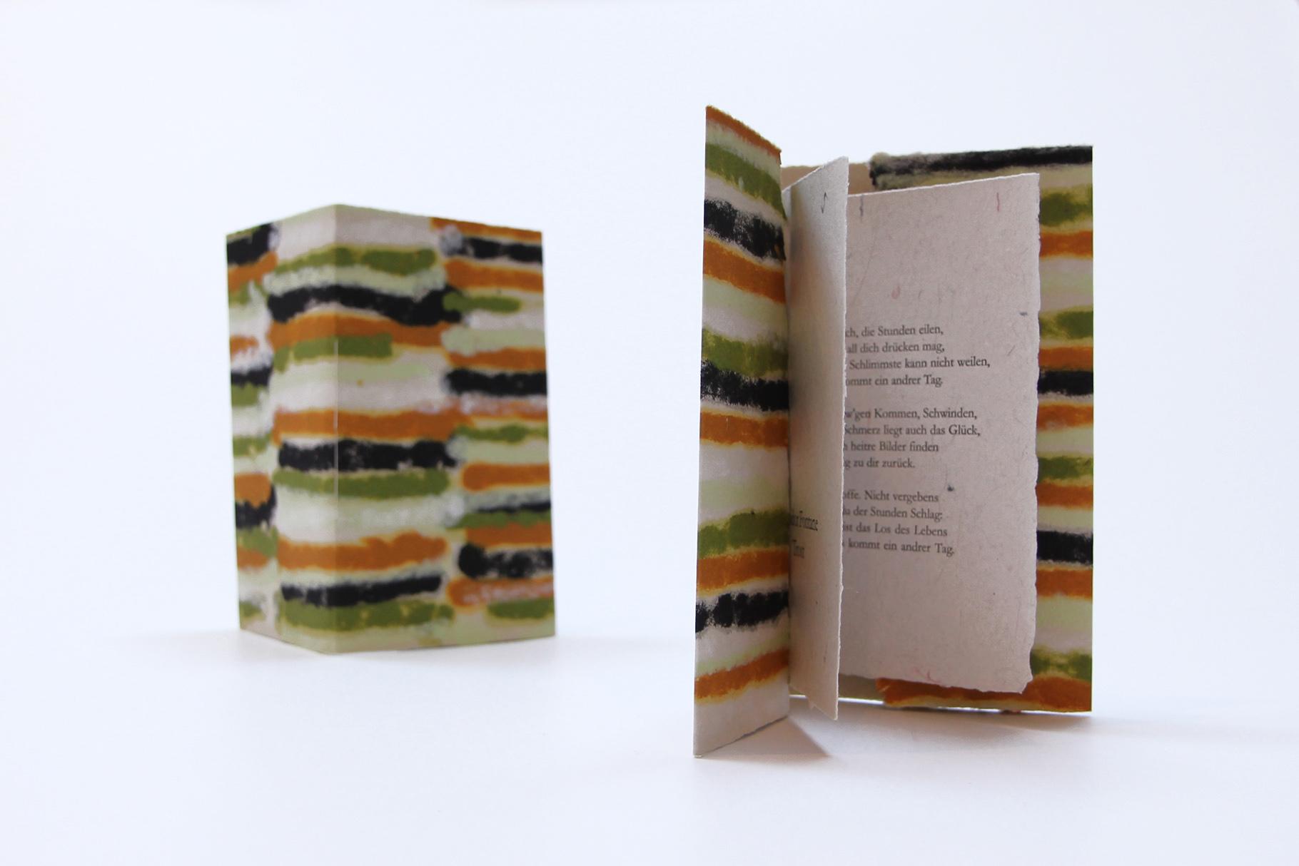 """""""Trost"""" (2012) - Ein Heft, gestaltet von John Gerard mit einem Gedicht von Theodor Fontane"""