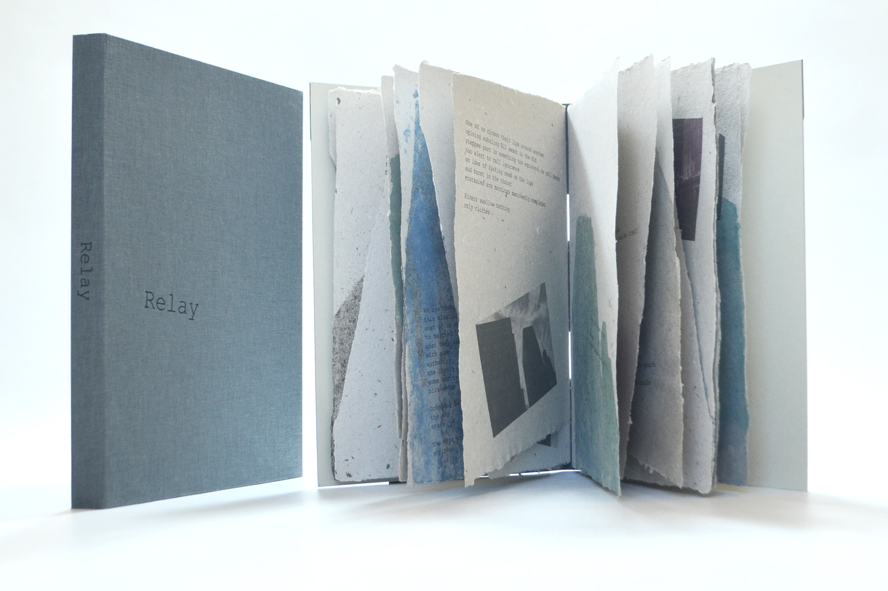 """""""Relay"""" (2008) - Ein Künstlerbuch von John Gerard mit einem Gedichtzyklus von Patrick F. Durgin (Erstdruck)"""