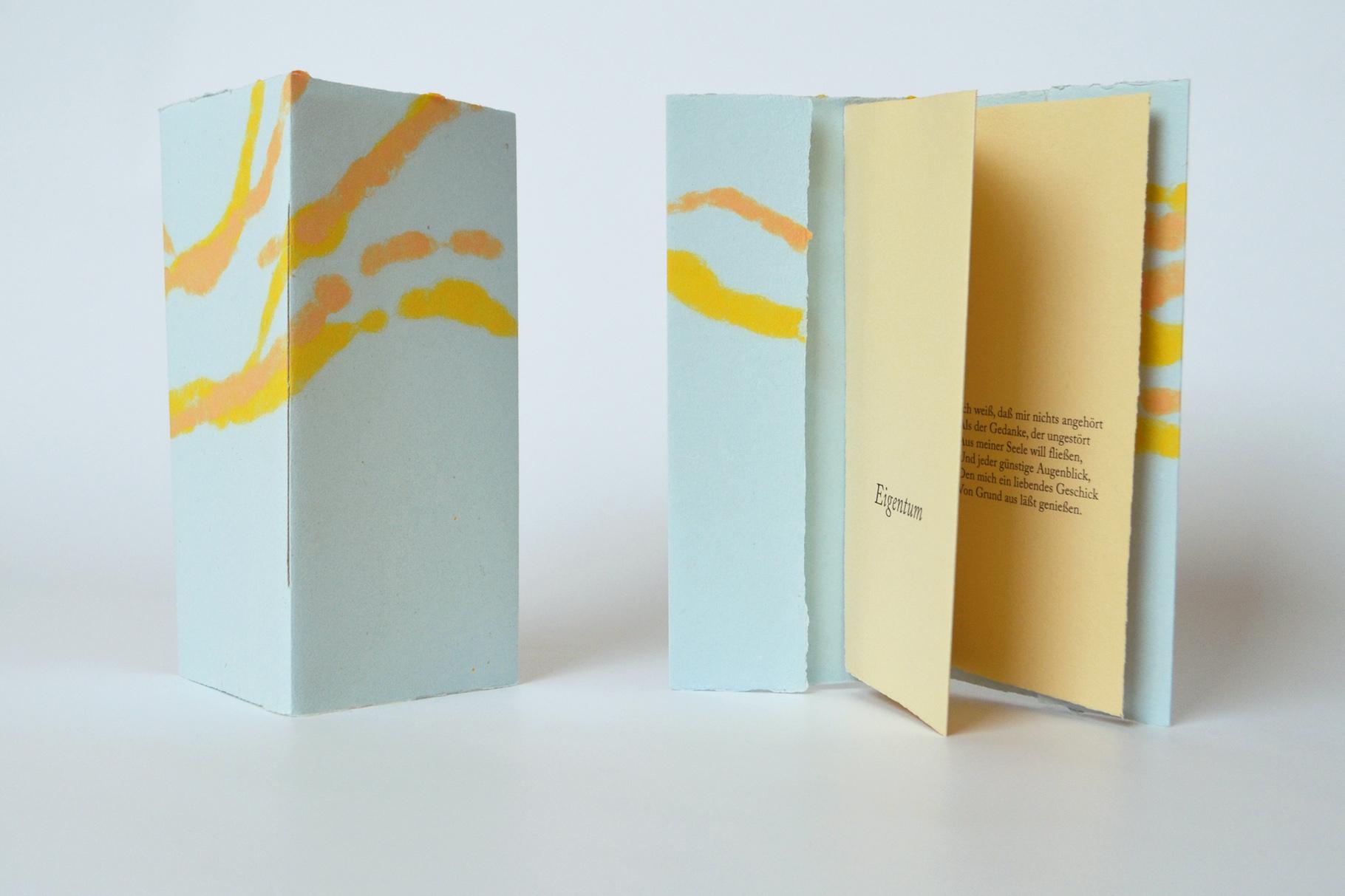 """""""Eigentum"""" (2016) - Ein Heft, gestaltet von John Gerard mit einem Gedicht von Johann Wolfgang von Goethe"""
