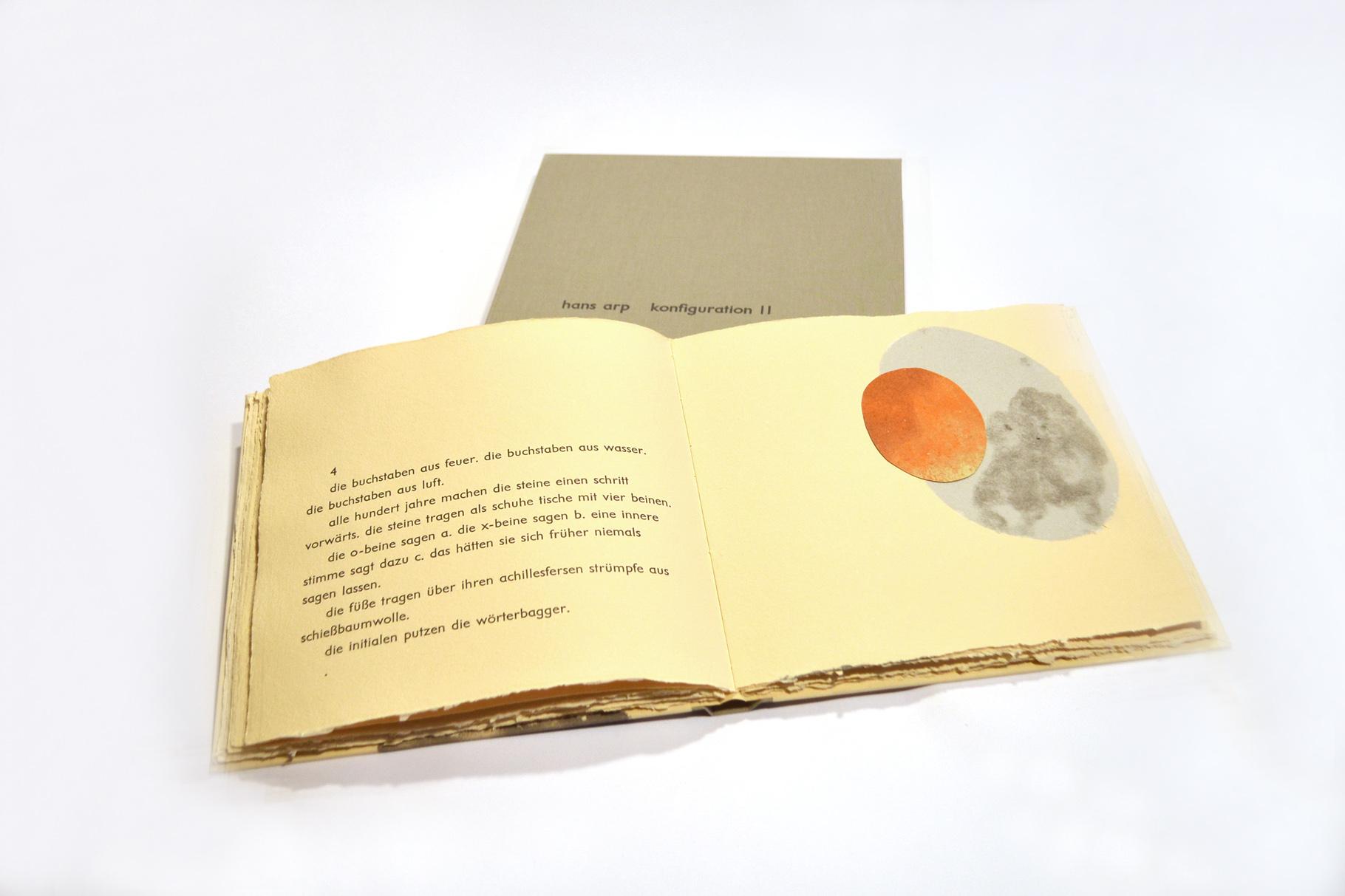 """""""Konfiguration II"""" (2014) - Ein Künstlerbuch von John Gerard mit einem Text von Hans Arp"""