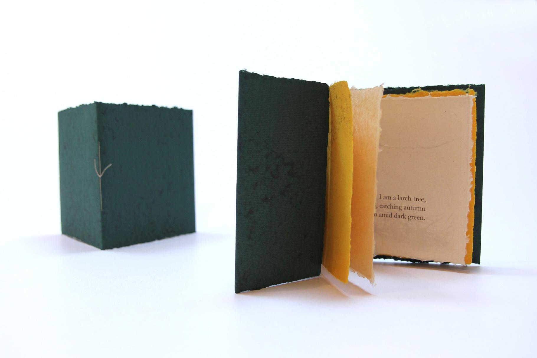 """""""I am a larch tree"""" (2020) - Ein Heft, gestaltet von John Gerard mit einem Haiku von Kevin Perryman"""