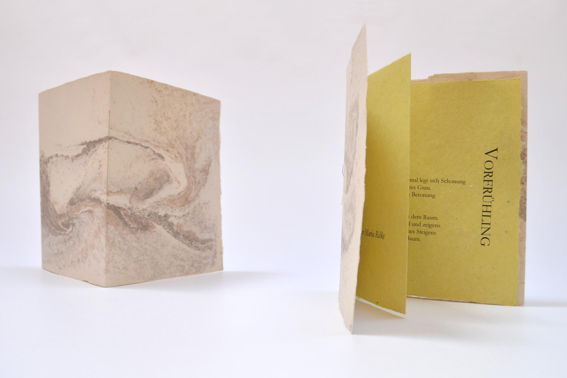 """""""Vorfrühling"""" (2016) - Ein Heft, gestaltet von John Gerard mit einem Gedicht von Rainer Maria Rilke"""