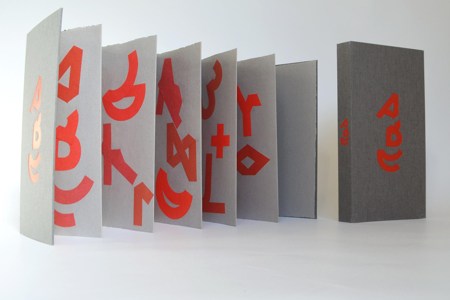 """""""ABC"""" (2012) - Ein Künstlerbuch von Thomas Meurer, hergestellt in Zusammenarbeit mit John Gerard"""