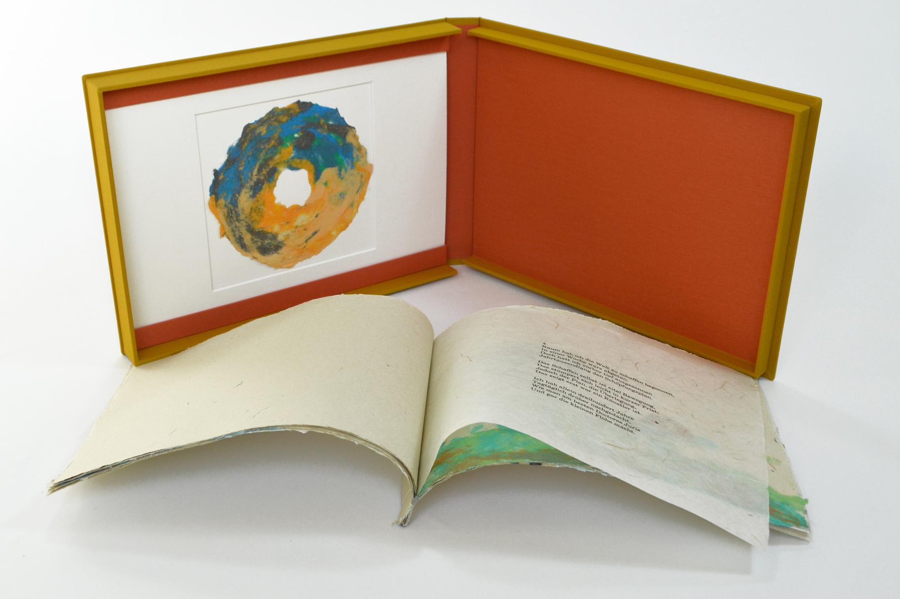 """""""Schöpfungslieder"""" (2003) - Ein Künstlerbuch von John Gerard mit einem Gedicht von Heinrich Heine (Version de Luxe)"""