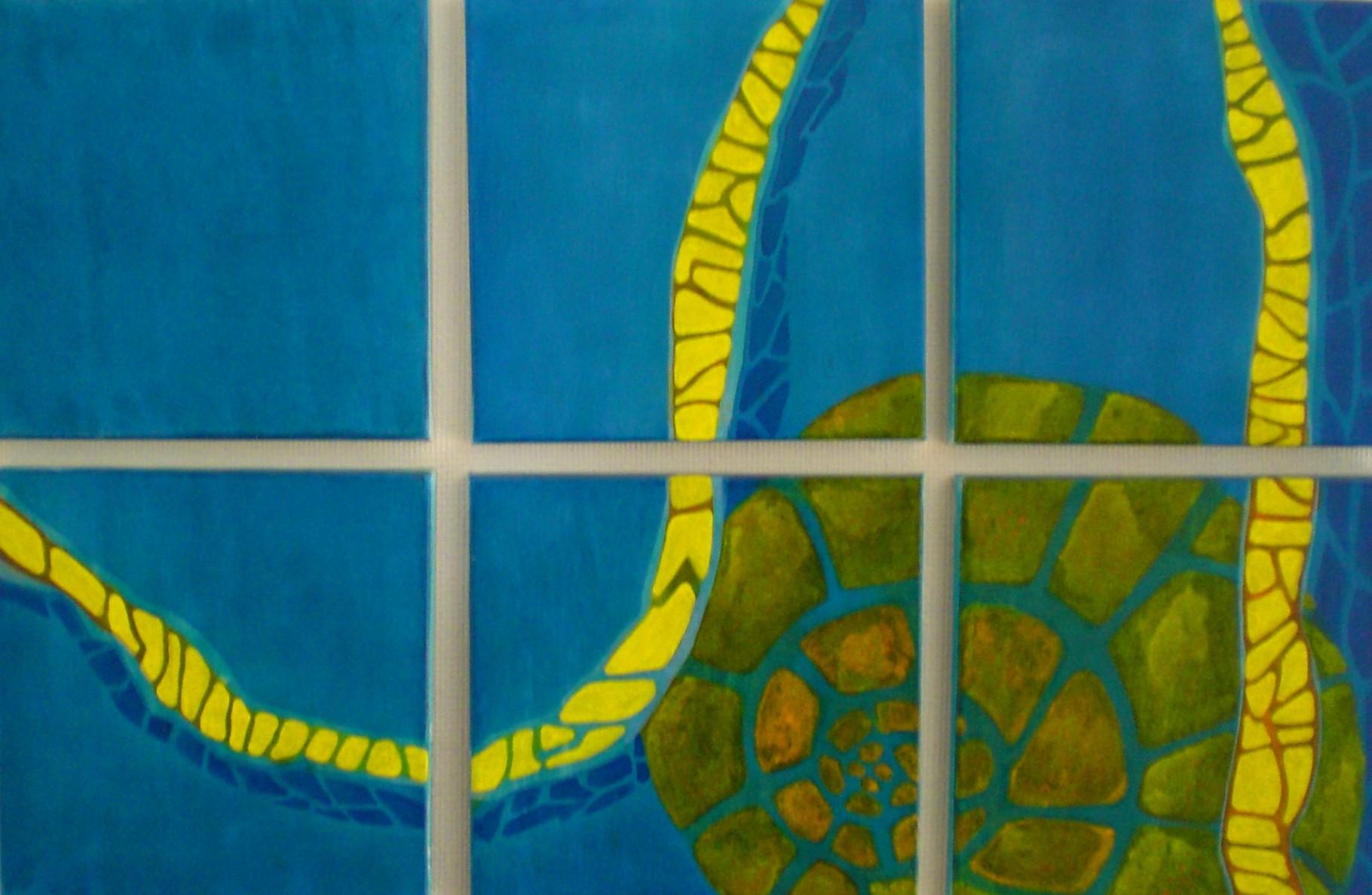 6 - teiliges Acrylbild ca. 60 x 90 cm