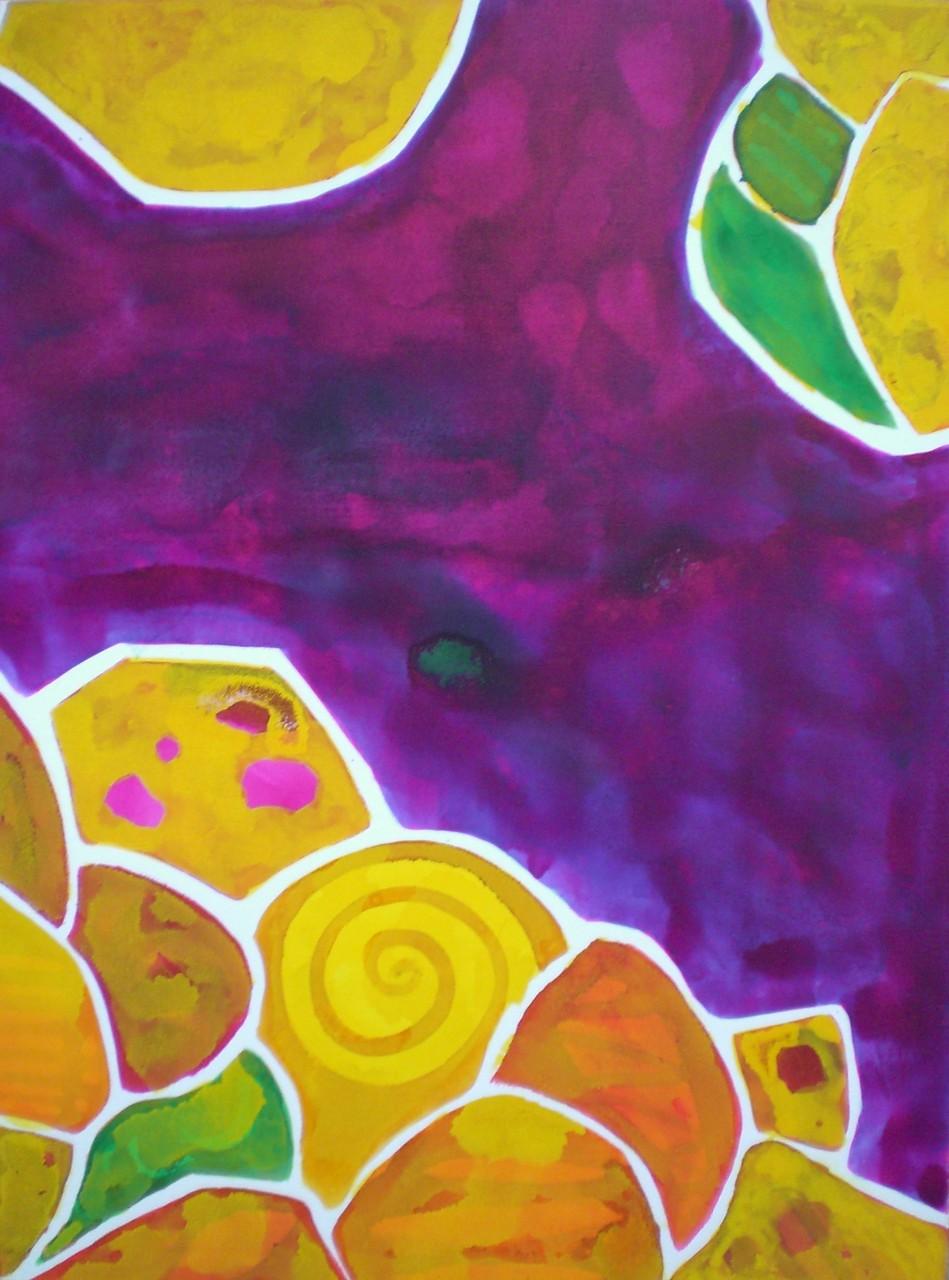 Fukoshima, 2-teilig, Acryl, farbige Tusche 80 x 120 cm