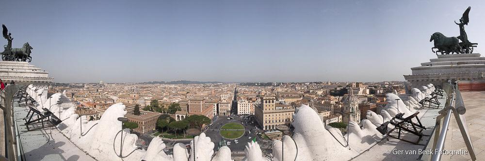 Uitzicht vanaf Monument Vittorio Emanuele II