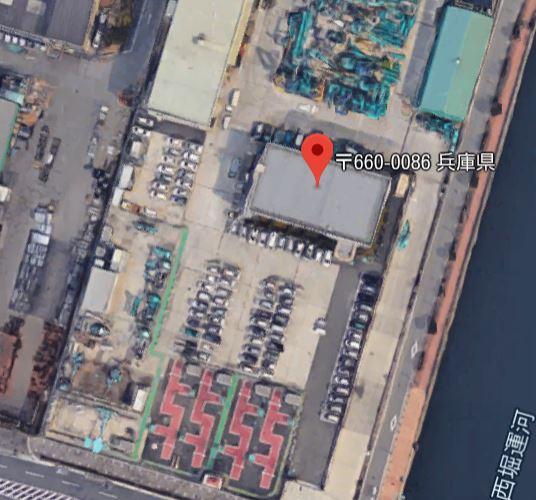 Google航空写真 赤い部分が熱交換塗料コース
