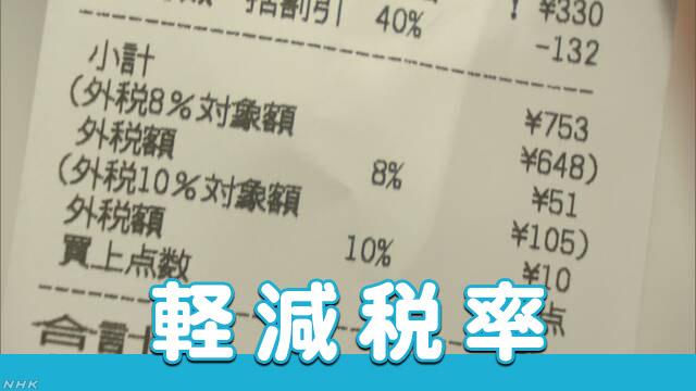 消費税10%に対して、食料品などは8%に据え置き税率 混乱