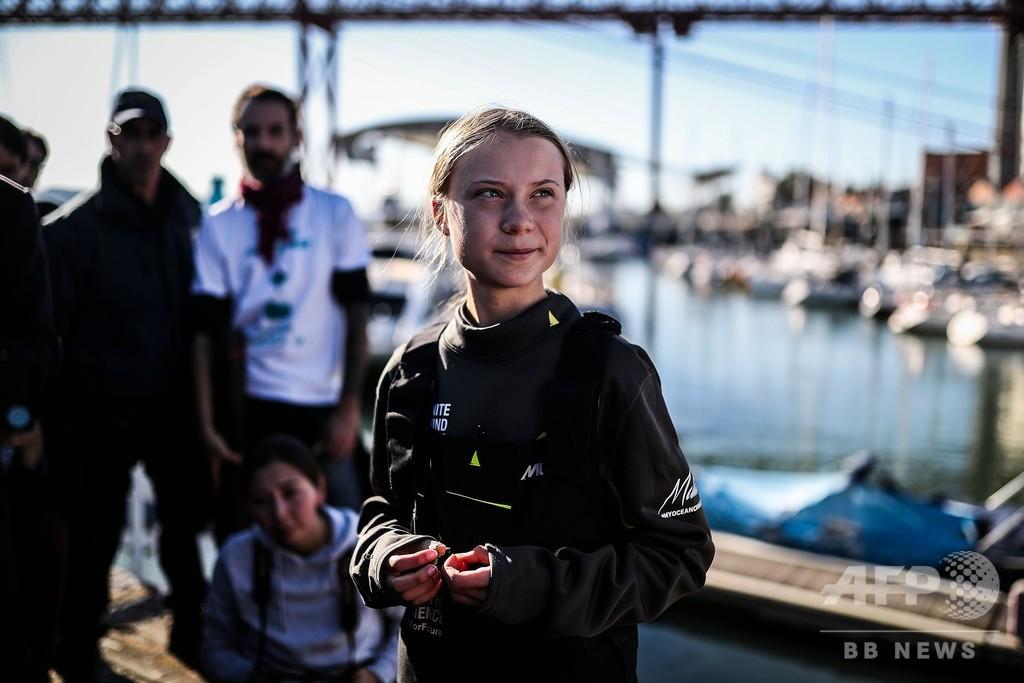 16歳の活動家グレタさんヨットで大西洋を横断して会場へ